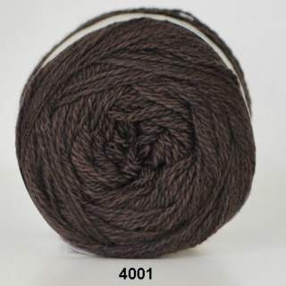 Organic 350 - Wool Cotton 4001 mörkbrun