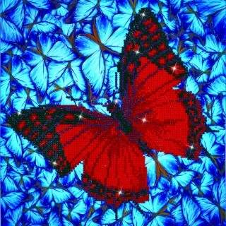 Diamond Dotz DD5.020  FLUTTERBY RED