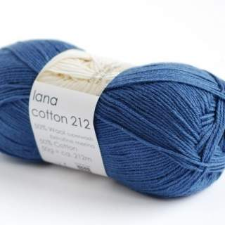 Lana cotton 212 6970 jeansblå