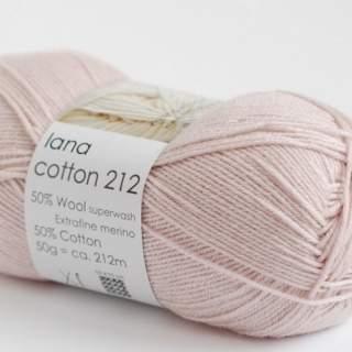 Lana cotton 212 3803 ljus gammelrosa