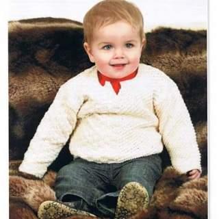 Mönster baby/barn tröja i Eco bomull 08058