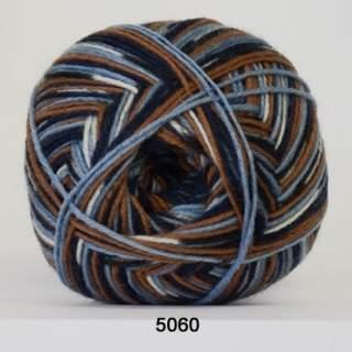 Aloe Sockwool 5060 blåbrun print
