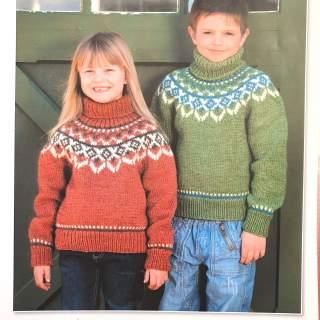 Mönster 09054 okstickad tröja i Eco Babyull