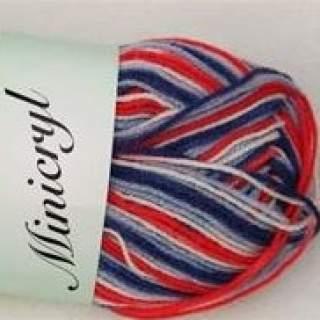 Minicryl print 27903 röd/blå/vit
