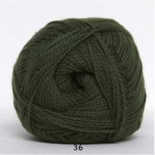 Blöd Bomuld 4/2 nr 8 36 armegrön