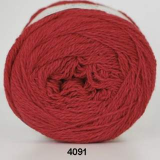 Organic 350 - Wool Cotton 4091 röd
