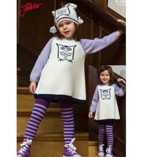 Mönster 91269 barntröja med uggla