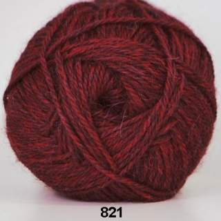 Hjerte Alpaca 0821 vinröd