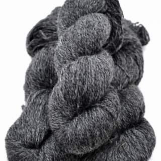 1-trådigt ullgarn mörkgrå