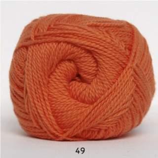 Blød Bomuld 4/2 nr 8 49 mörk orange