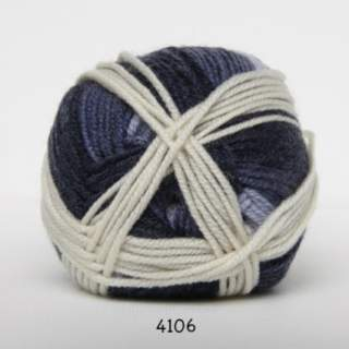 Extrafine Merino 150 4106 blå/naturvit