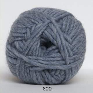 Natur uld 0800 ljus jeansblå
