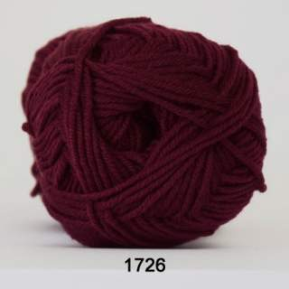 Merino Cotton 1726 vinröd