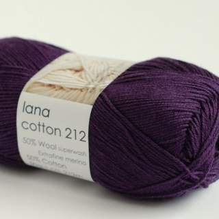 Lana cotton 212 3714 plommon