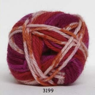 Ragg strømpegarn 3199 rosaorange