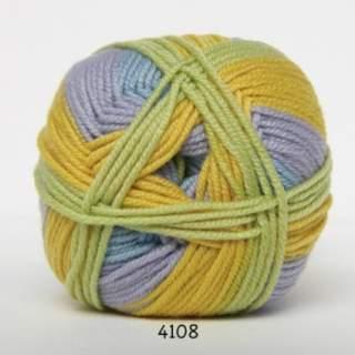 Extrafine Merino 150 4108 gul/ljusblå/pistage