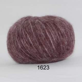 Hjerte Børstet Uld 1623 plommon