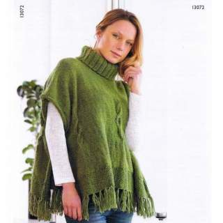 Mönster 13072 poncho i Ecoull