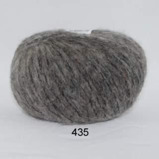 Hjerte Børstet Uld 0435 grey