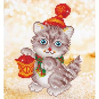 Diamond Dotz DD3.013 CHRISTMAS KITTEN GLOW