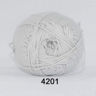 Cotton 165 (8/4) färg 4201 ljusgrå