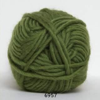 Natur uld 6957 olivgrön