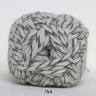 Ragg strømpegarn 0744 tvinnad vitgrå