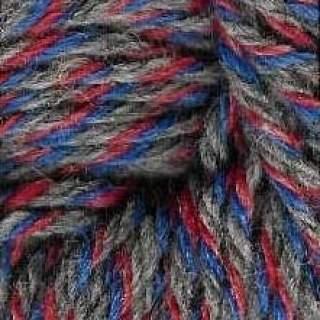 Raggsocksgarn 62429 röd/blå/grå
