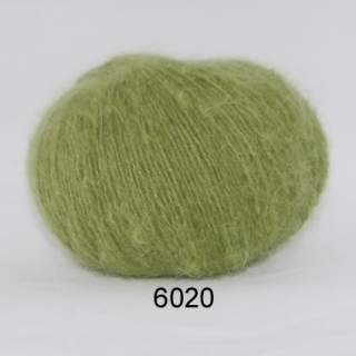 Hjerte Light mohair wool 6020 grön