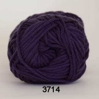 Cotton 8/8 3714 mörk lila