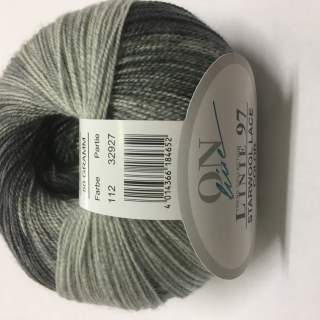 Starwool Lace Color 112 gråsvart