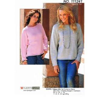 Mönster 111241 tröja i Alpacasilk