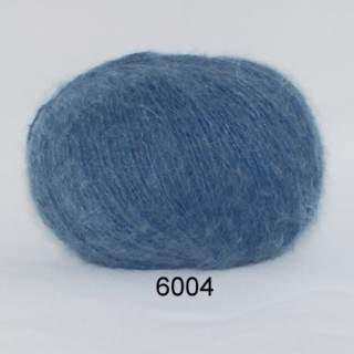 Hjerte Light mohair wool 6004 blå
