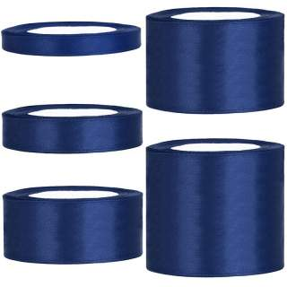 Satinband rulle 79 marinblå