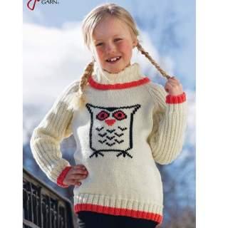 Mönster 91262 barntröja med uggla