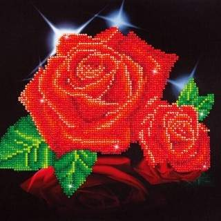 Diamond Dotz DD5.002 RED ROSE SPARKLE