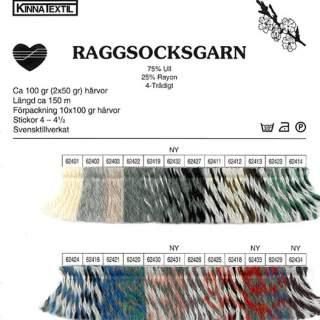 Raggsocksgarn 62434 red/black/white