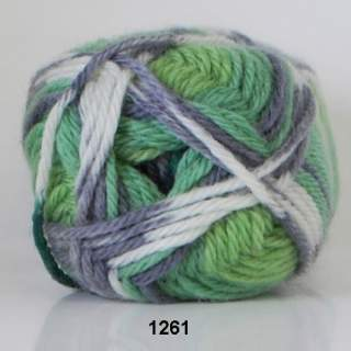 Ragg strømpegarn 1261 gröngrå