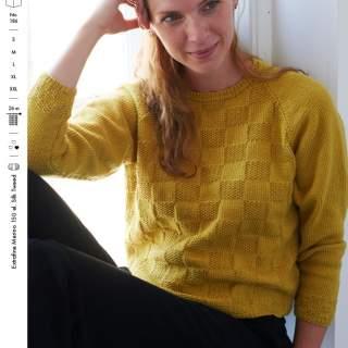 1854 tröja med rutmönster i Extrafin merino eller Tilk tweed