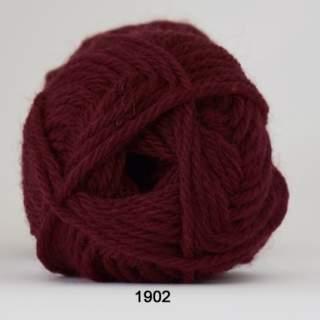 Ragg strømpegarn 1902 vinröd