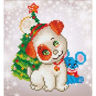 Diamond Dotz DD3.012 CHRISTMAS PUP & MOUSE