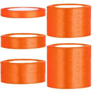 Satinband rulle 34 orange