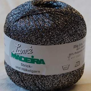 Lamé Madeira 560 silversvart