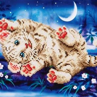 Diamond Dotz DD5.005 BABY TIGER ROLY POLY