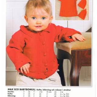 Mönster baby/barn kofta & klänning i Eco Babybomull 09072