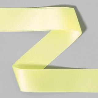 Satinband rulle 14 light yellow