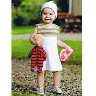 Mönster 13002 Klänning och mössa i Eco Babybomull