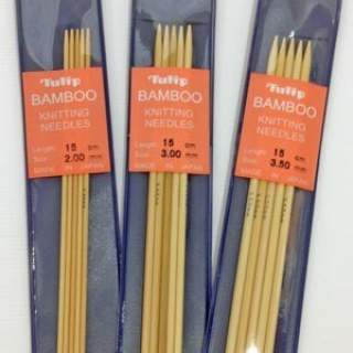 Double pointed needles 3,5mm bamboo 15cm