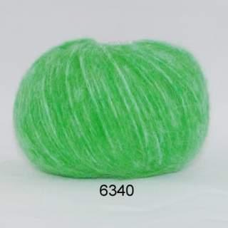 Hjerte Børstet Uld 6340 grön