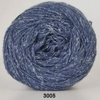 Wool silk 3005 jeansblå